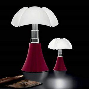PIPISTRELLO-Lampe ampoules LED pied télescopique H66-86cm Rouge Martinelli Luce - designé par Gae Aulenti